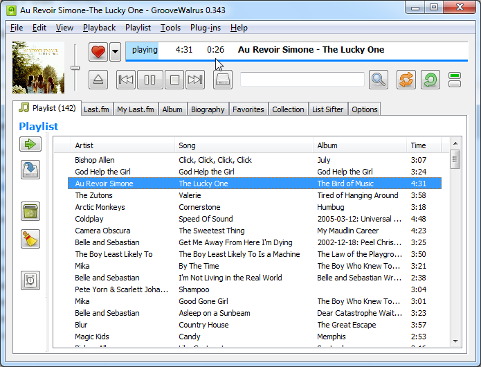 GrooveWalrus, a great streaming music player